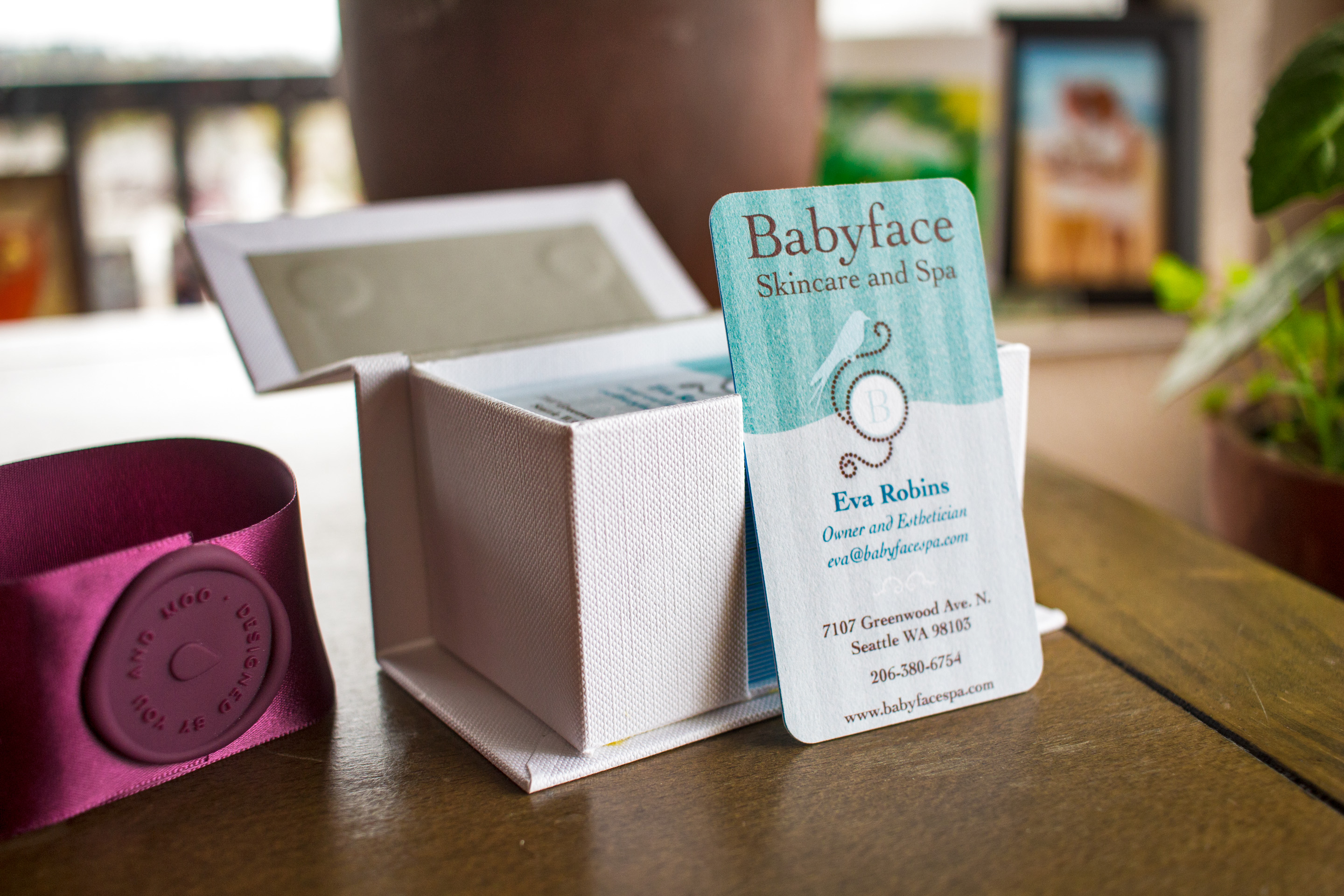 Babyface Skincare Business Cards