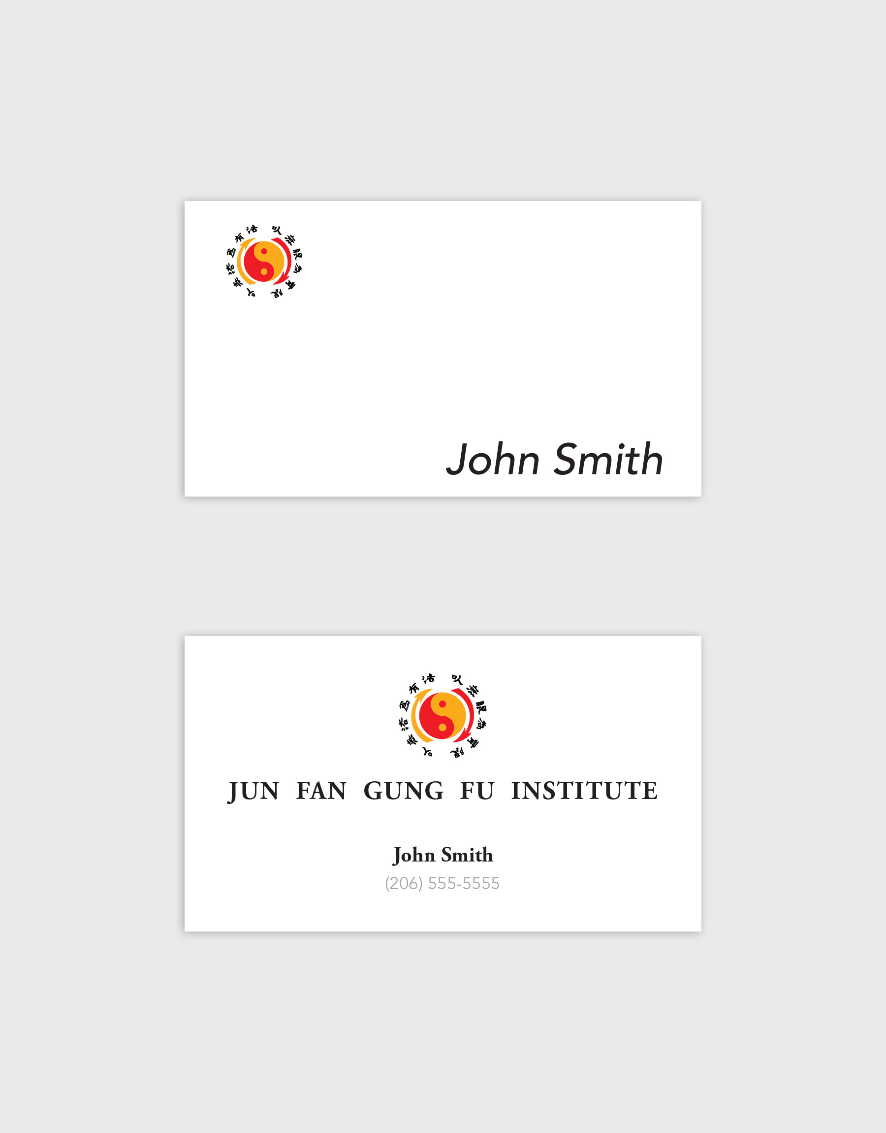 Jun Fan Gung Fu Institute Business Cards