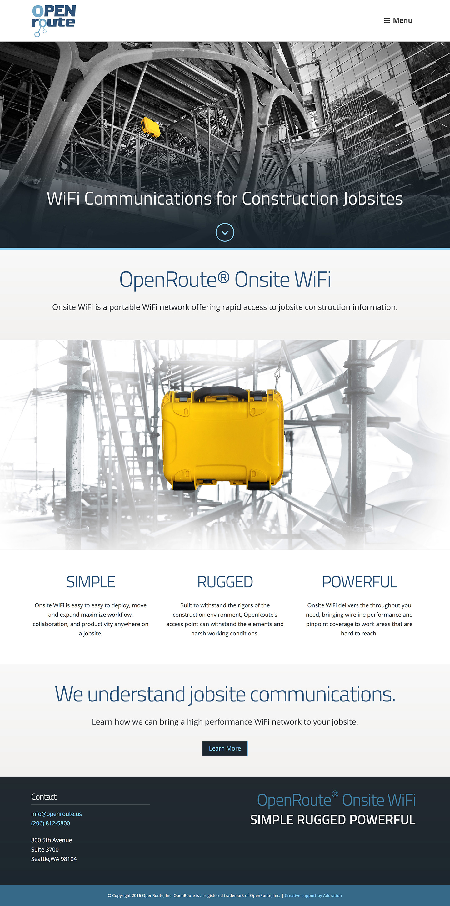 OpenRoute Homepage