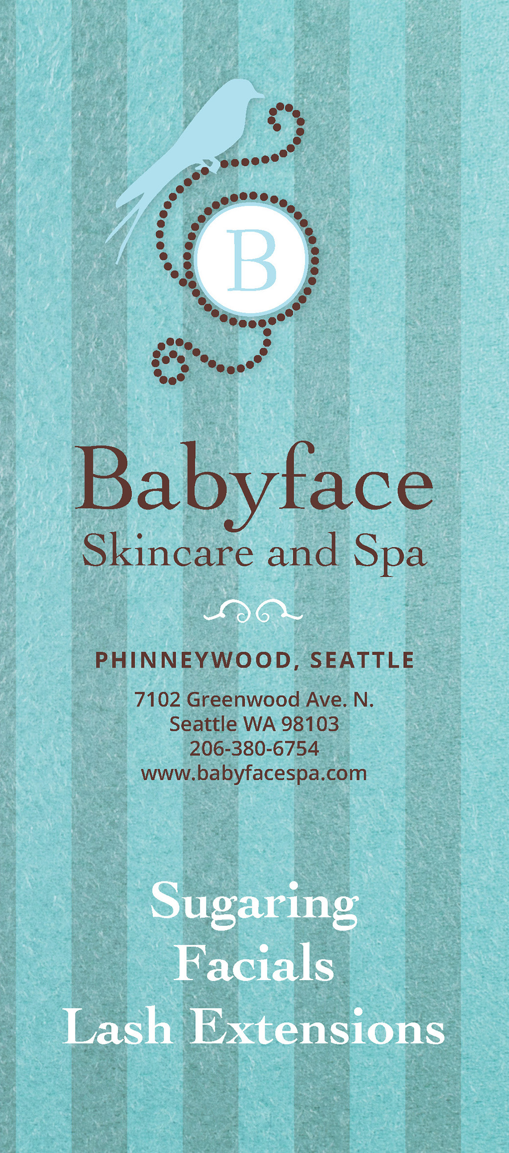 Babyface Skincare and Spa Brochure Cover