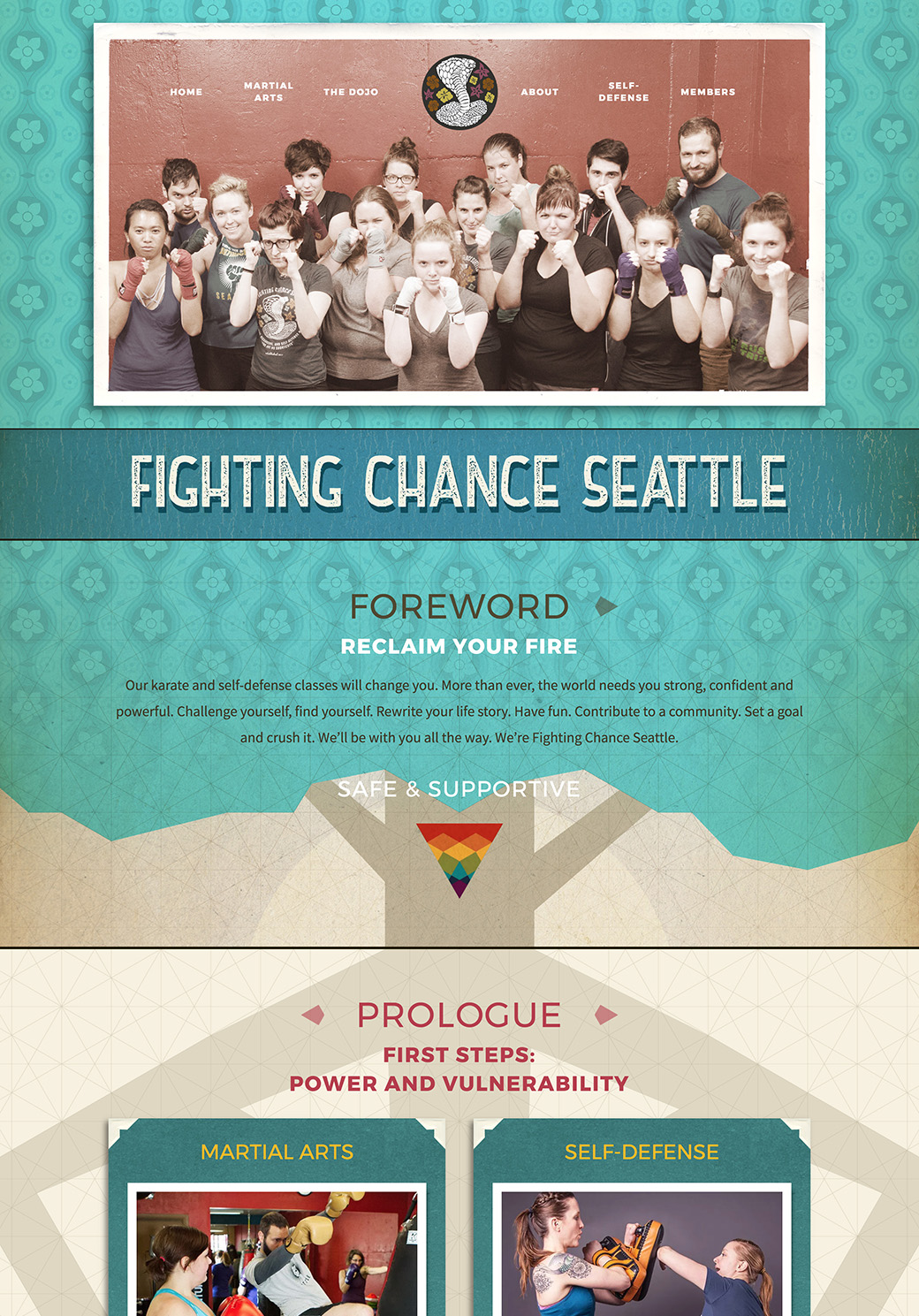Fighting Chance Seattle Homepage