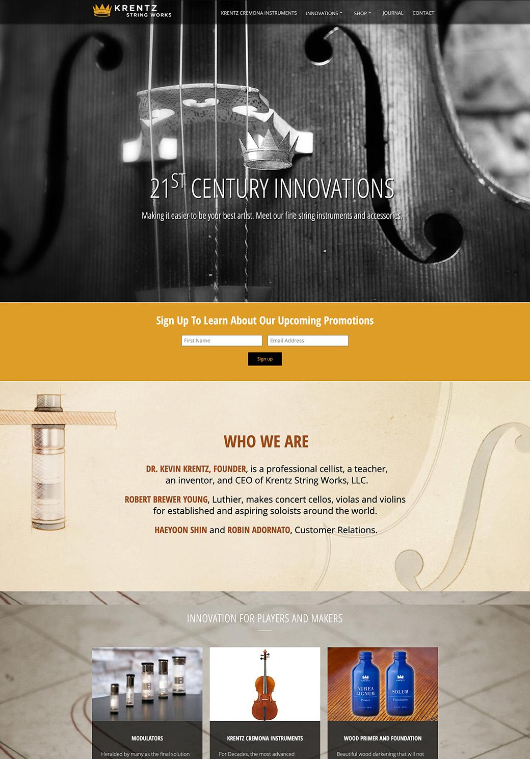 Krentz String Works Homepage