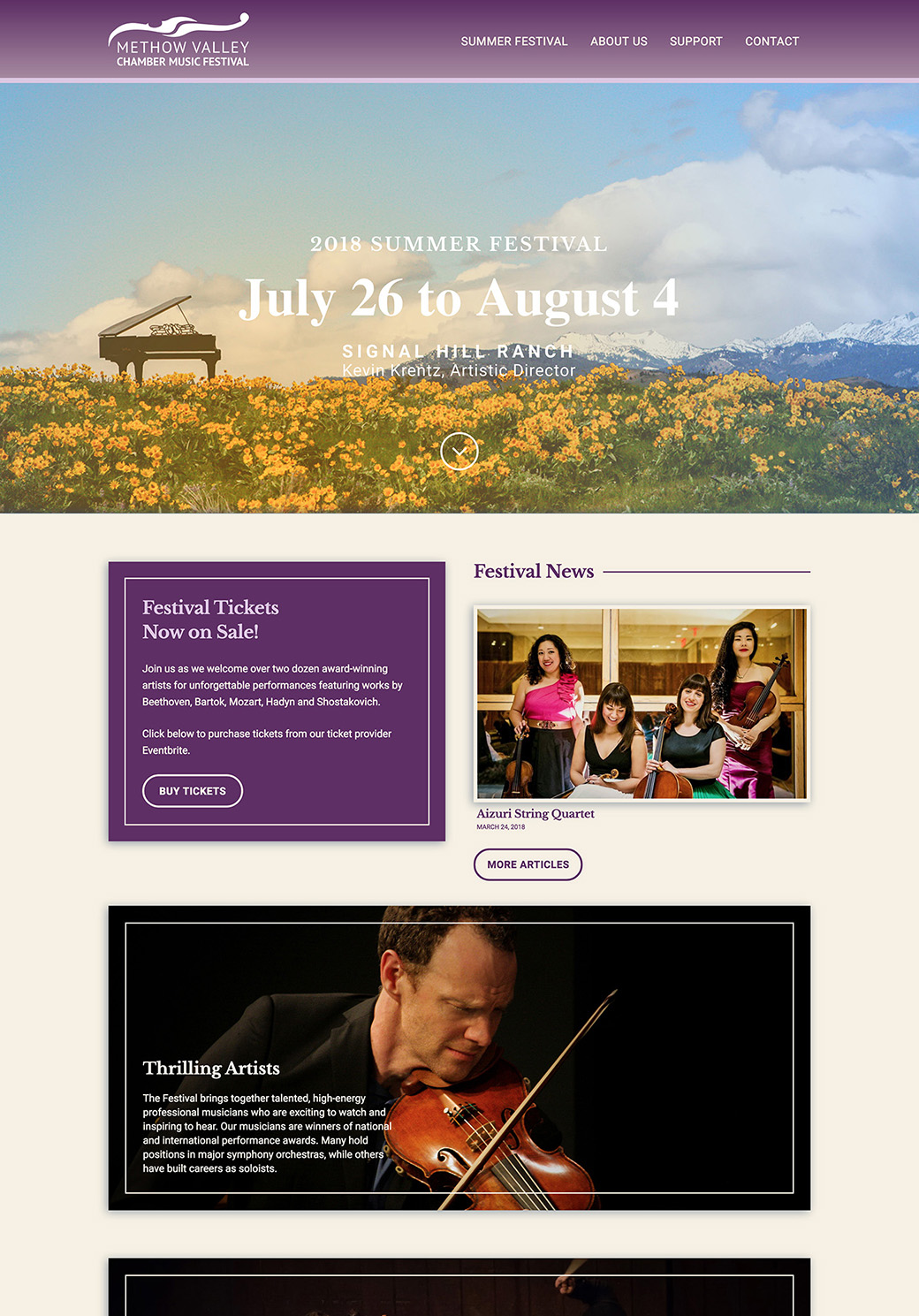 Methow Valley Chamber Music Festival Homepage