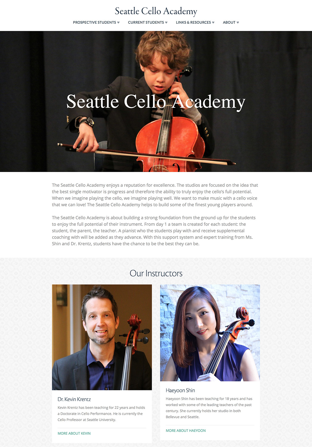Seattle Cello Academy Homepage